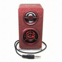 Wholesale Cheap Portable Mini Speaker with Wood Shell, Flashing Light and 5.0V DC Input from china suppliers