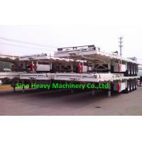 Wholesale SINO TRUK Utility 3 Axles Semi Trailer Trucks / Flat Low Bed Trailer from china suppliers