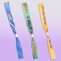 Wholesale Security Fabric Bracelet with Aluminum Clasp Tube, Measures 16 x 400mm from china suppliers