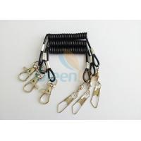 Wholesale Flexible Short 52MM Black Tool Tether Lanyard With Fishing Swivel Pin & Hook from china suppliers