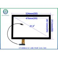 """Wholesale 21.5"""" USB Interface Projected Capacitive Touch Screen For Commercial Kiosks, 16:9 COB Type ILITEK 2302 Controller from china suppliers"""