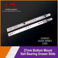 China 27mm Bottom Mount Ball Bearing Drawer Slide For Shelves 2703 for sale