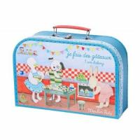 China Colorful Printing Suitcase Type Flexo Printing Designed Cardboard Storage Boxes for sale