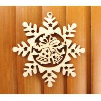 Wholesale Unfinished Wood Snowflake Cutout, 4-Inch from china suppliers