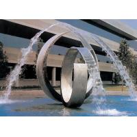 Wholesale Double Arc Large Stainless Steel Water Features For Pools Brushed Finishing from china suppliers