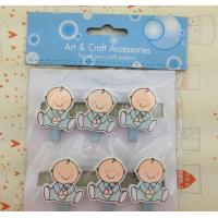 Wholesale little baby pattern wood craft pegs wood picture clip Pack of 6 from china suppliers