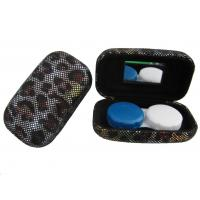 Wholesale Hard Creative Travel Contact Case With Cool Leopard Pattern Customized Logo from china suppliers