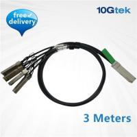 Wholesale QSFP+ to 4 SFP+ Copper Breakout Cable 3m, Passive (QSFP-4SFP10G-CU3M ) from china suppliers