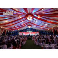 Wholesale Aluminum Frame PVC Roof Structure Marquee Tent Hal 50x50m with Ceiling Lining and Lighting from china suppliers