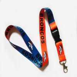 China Metal crimp woven neck strap for sale