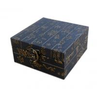 Wholesale Luxury Gift Box Metal Closure Black Cardboard Gift Boxes With Lids from china suppliers
