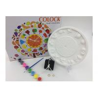 Wholesale Fruit Style Arts And Crafts Toys Set DIY Painting Plaster Craft Clock Real Movement from china suppliers