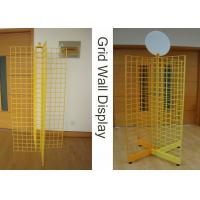 Wholesale Four Way Metal Wire Retail Display Racks , X Shape Wire Grid Display Stands from china suppliers