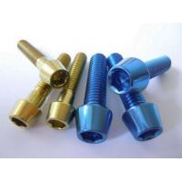 Quality High Strength Titanium Alloy Ti6Al4V Titanium Screws M5 for Bicycle Chinese for sale