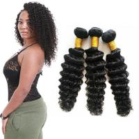 Wholesale Genuine Grade 8A Deep Wave Hair Bundles , Remy Deep Wave Hair Extensions from china suppliers