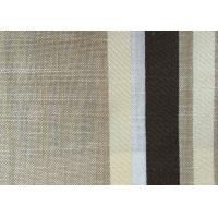 China Washable Upholstery Polyester Blend Fabric , Plain Linen Fabric on sale