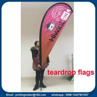 Buy cheap Custom Teardrop Flag Banner Printing from wholesalers