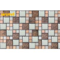 Wholesale Water Proof Small Glass Chip Stainless Steel Mosaic Tile For Interior Decoration from china suppliers