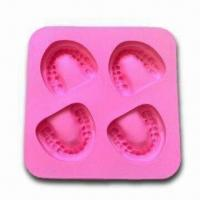 Wholesale Frozen Smile Silicone Ice Cube Tray, Nontoxic/Non-stick,OEM Orders Available,FDA-/LFGB-approved from china suppliers