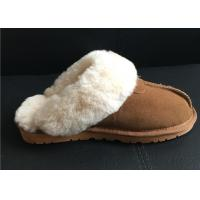 Wholesale Women's Sheepskin Slippers Shoes Luxurious Sheepskin Closed Toe Slippers from china suppliers