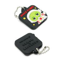 Personalized Promotional Gifts For Clients 3D Soft PVC Rubber Keychain for sale
