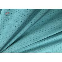 China Grean Colour Sports Mesh Fabric , Polyester Spandex Blend Fabric For Garment Sports on sale