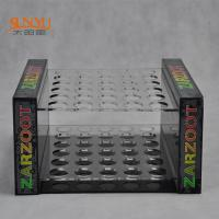 Wholesale 2 Tiers Perspex Display Shelves Nail Polish Stand Rack PMMA Crazy Logo Printed from china suppliers