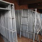 Mobile Platform Steel H Frame Construction Scaffolding Safety Walk Through Style