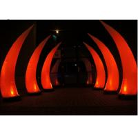 Wholesale Beautiful Bridge Led Inflatable Lighting For Evening Party Red Tusk Type from china suppliers