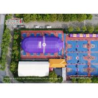 Purple Aluminum Structure Polygon Tent For Basketball Field Flame Retardant