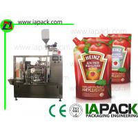 China Tomato Paste Packing Machine , Poly Pouch Packing Machine PLC  Control for sale