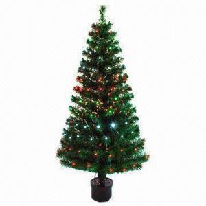 China Fiber Optic Christmas/Prelit Tree, Made of PVC Flame Retardant on sale