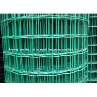 Wholesale Durable Square Chicken Wire Mesh Panel , Green Pvc Coated Wire Mesh Fencing from china suppliers