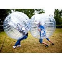 China 1.5m transparent bubble football Ball for football field on sale