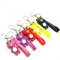 China Soft Touch PVC Plastic Custom 3D Bear Figure Key Chain Waterproof Use In Promotional Gifts for sale