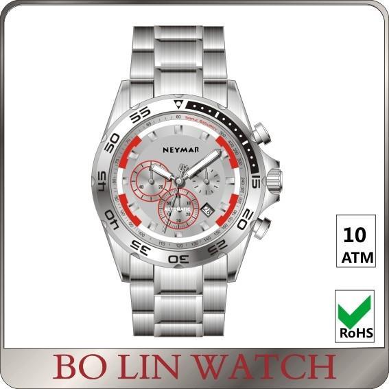 Quality Mechanical Men'S / Womens Military Aviator Watch , Metal Bracelet Swiss Military Dive Watch for sale