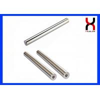 China Round Permanent Magnet Rod Strong Neodymium Type With M8 Screw Holes for sale