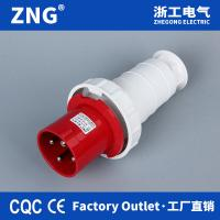 China 4 pin 400v 63a industrial plug ip67 waterproof, IEC60309 3 phase industrial power plug 4 pin 63a for sale