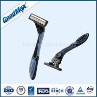 China Safety Plastic Triple Blade Razor With Pivoting Head Smooth And Comfortable on sale