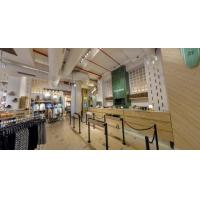 Wholesale Warm and inovative interior concept for the store interior layout and visual by Wood counters and metal wardrobe from china suppliers