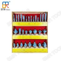 "Wholesale Industrial Quality 30pcs Wooden Box Packed 1/2"" Shank Carbide Multi-Purpose Router Bit Set from china suppliers"