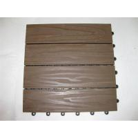 China 30mm x 30mm DIY WPC Decking Floor , Interial wood and plastic composite Decking on sale