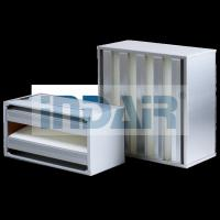Wholesale SS Frame V Bank Air Filter H10 / H13 No Partition Design Long Service Life from china suppliers
