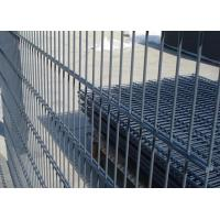 Wholesale Galvanized / PVC Coated Steel Wire Fencing , Double Wire Mesh Fence For Garden from china suppliers