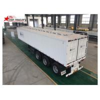 China High - Tensile Steel Flatbed Container Trailer With Water Proof Design on sale