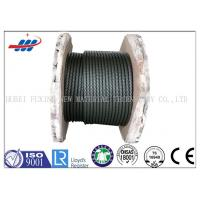 China Black Elevator Steel Wire Rope , Left / Right Lay Wire Rope Cable 6-48mm Gauge on sale