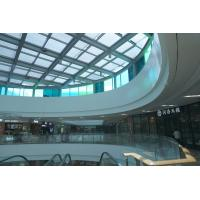 China Commercial Louvre Roof Systems Air Ventilation PVDF Coating Optional Blade Width for sale
