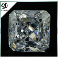 10x10mm square cut synthetic white cubic zirconia faceted gemstone at low price for sale