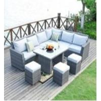 Wholesale L Shape Sectional Rattan Outdoor Furniture Sofa Dining Sets With Ottoman from china suppliers