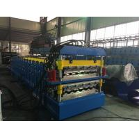 Wholesale Steel Step Tile Double Layer Roll Forming Machine 15 + 19 Stations 5.5kw from china suppliers